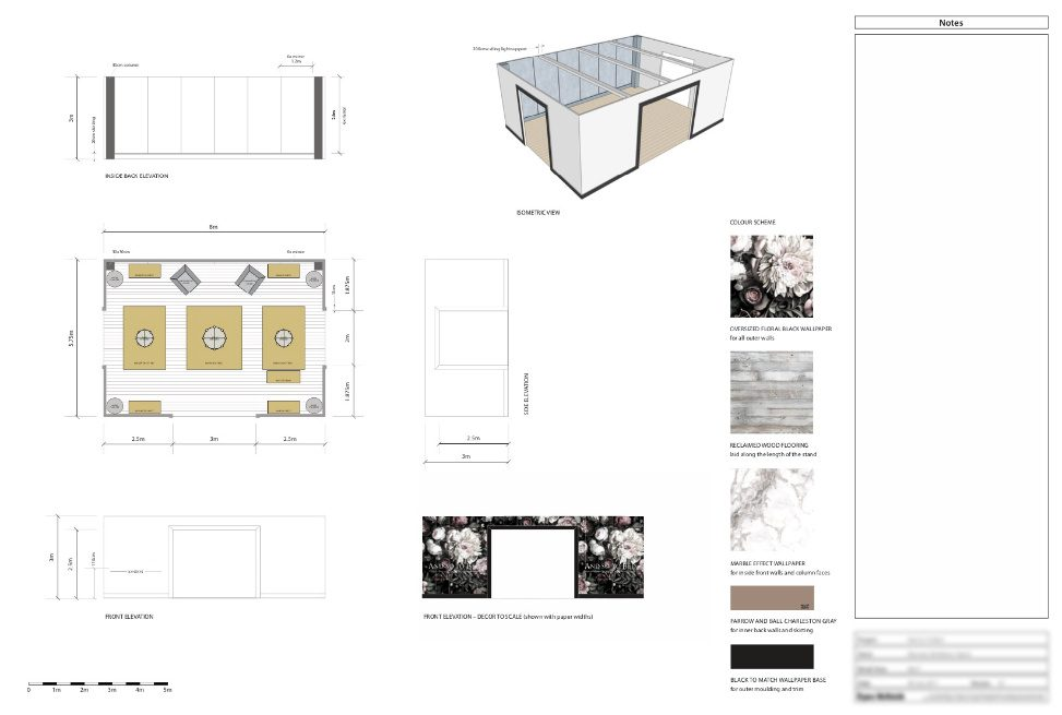 exhibition stand plan and isometric