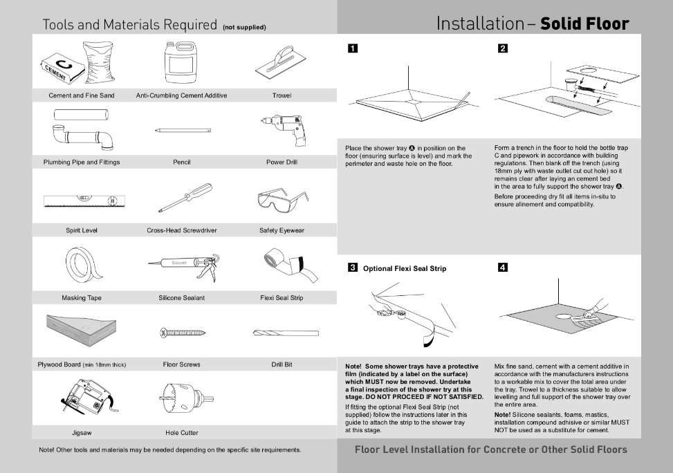 installation instructions design